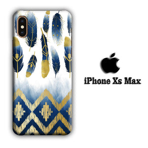 Feather Gold Art iPhone Xs Max 3D coque custodia fundas