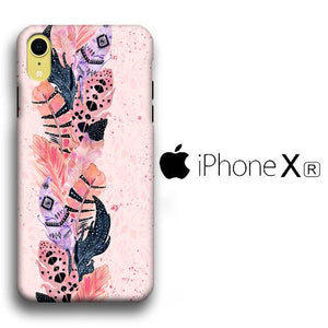 Feather Pink iPhone XR 3D coque custodia fundas