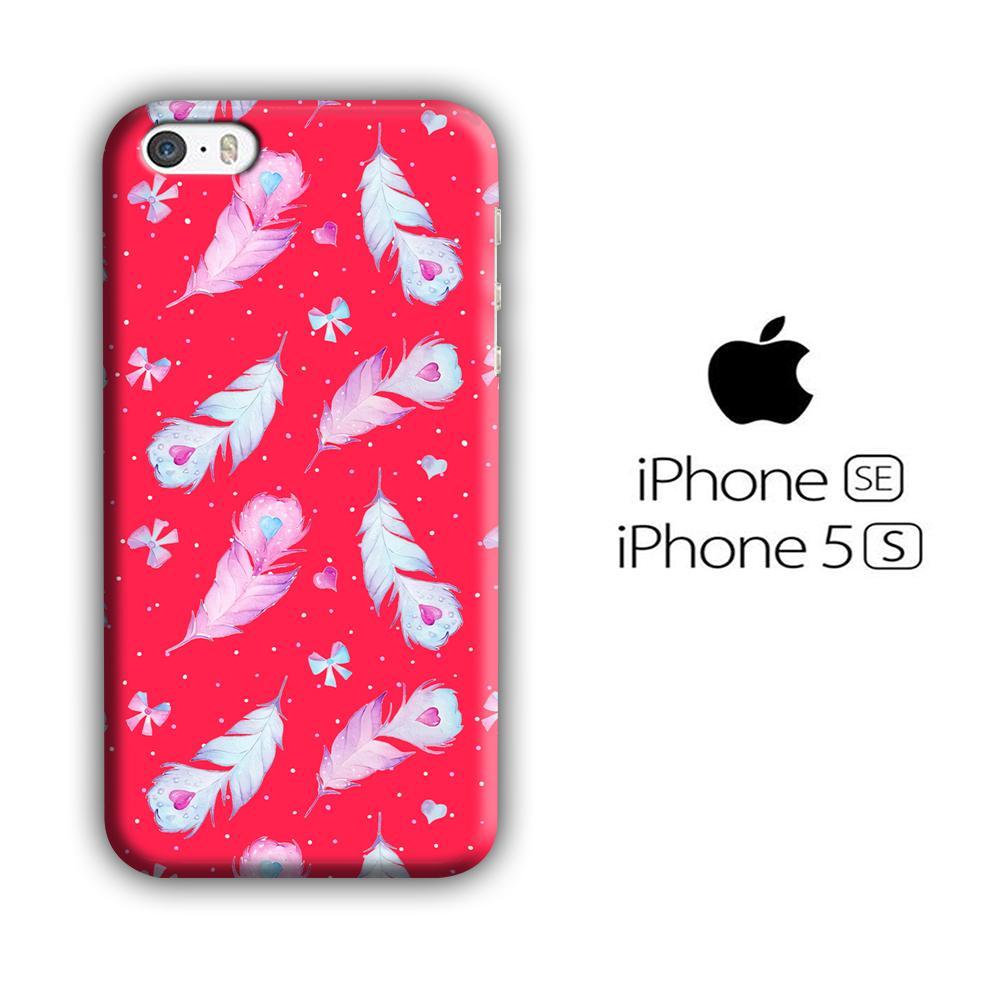 Feather Simple iPhone 5 | 5s 3D coque custodia fundas