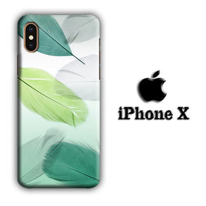 Feather Simple iPhone X 3D coque custodia fundas