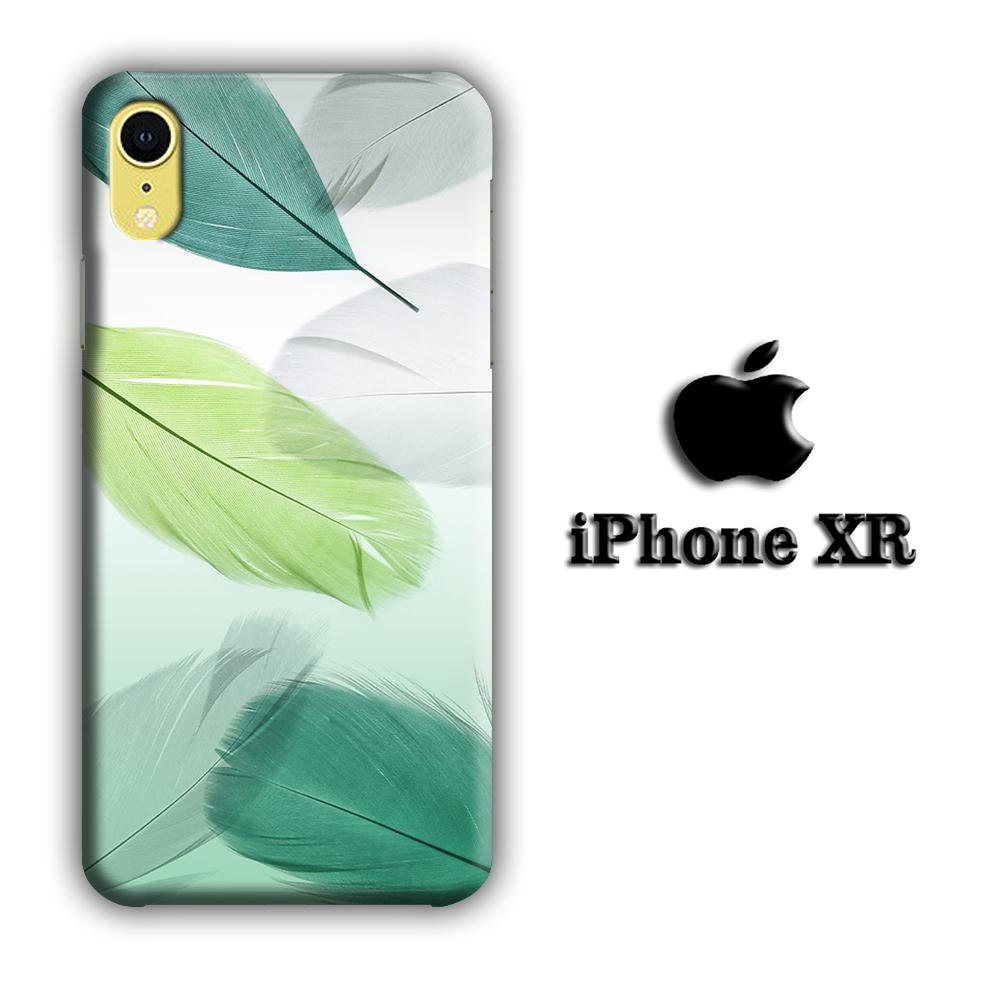Feather Simple iPhone XR 3D coque custodia fundas