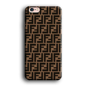 Fendi Brown Form iPhone 6 Plus | 6s Plus 3D coque custodia fundas