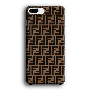 Fendi Brown Form iPhone 8 Plus 3D coque custodia fundas