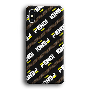Fendi Dash Word Patern iPhone Xs 3D coque custodia fundas