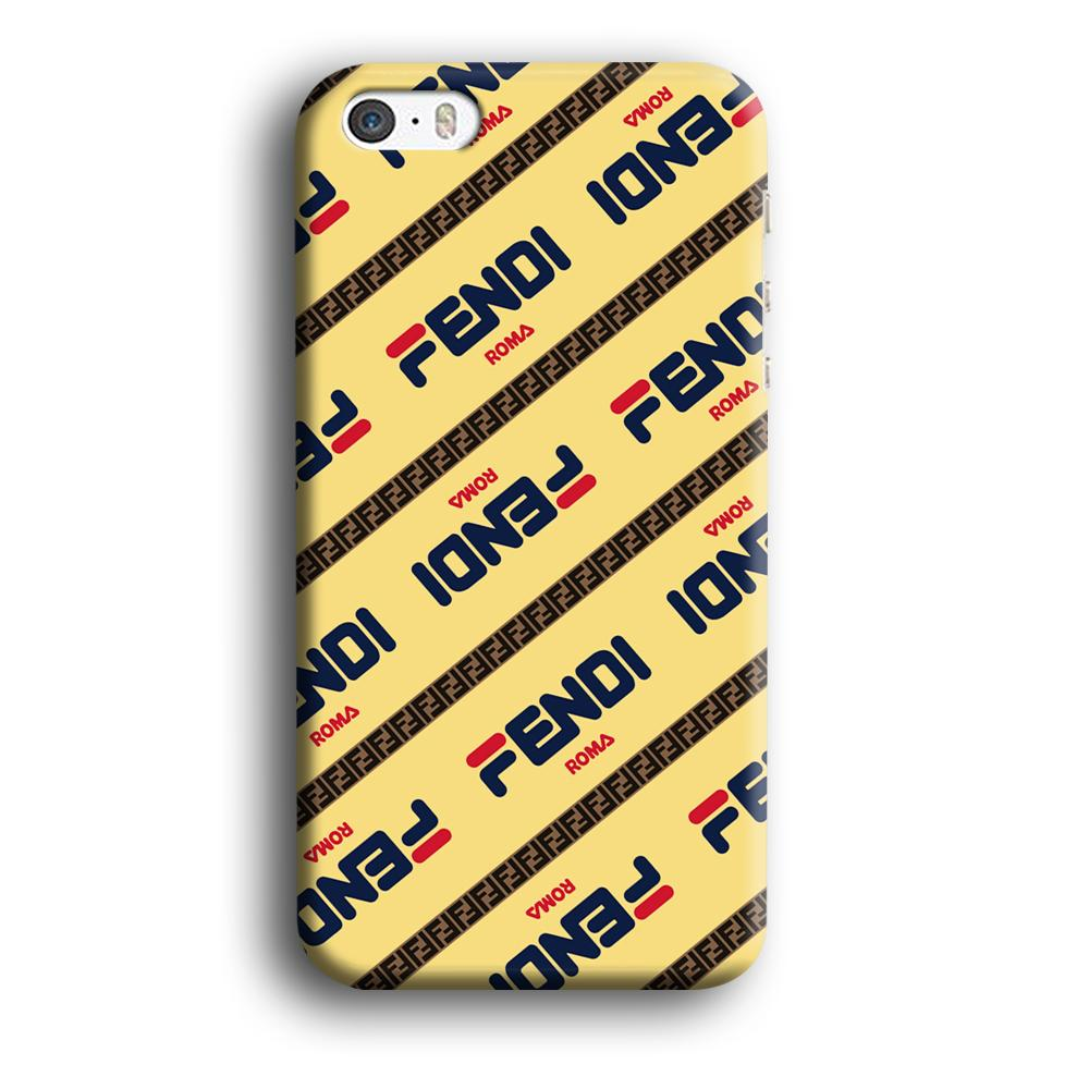 Fendi Line di Traverso Beige Wipe iPhone 5 | 5s 3D coque custodia fundas