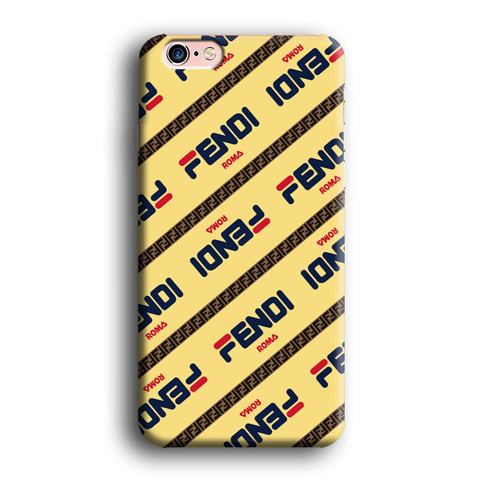 Fendi Line di Traverso Beige Wipe iPhone 6 Plus | 6s Plus 3D coque custodia fundas