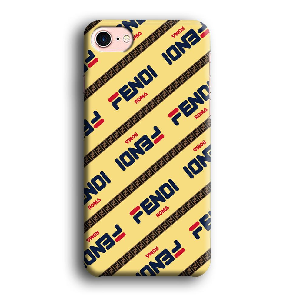 Fendi Line di Traverso Beige Wipe iPhone 8 3D coque custodia fundas
