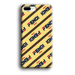 Fendi Line di Traverso Beige Wipe iPhone 8 Plus 3D coque custodia fundas