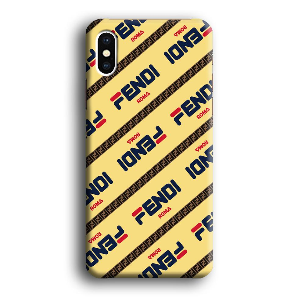 Fendi Line di Traverso Beige Wipe iPhone Xs 3D coque custodia fundas