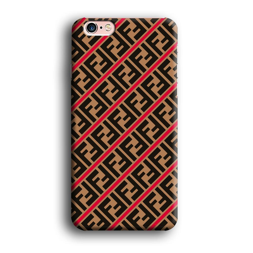 Fendi Logo in Line iPhone 6 Plus | 6s Plus 3D coque custodia fundas