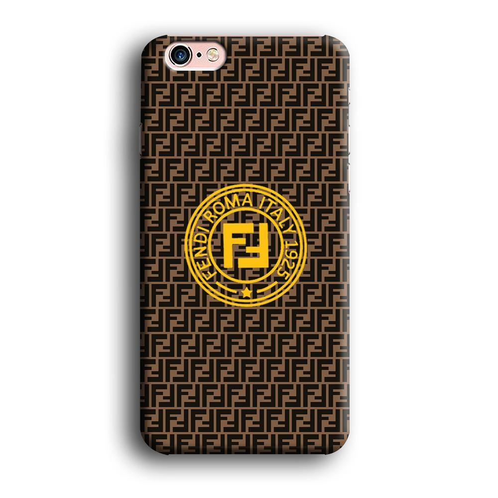 Fendi Yellow Emblem Ring iPhone 6 | 6s 3D coque custodia fundas