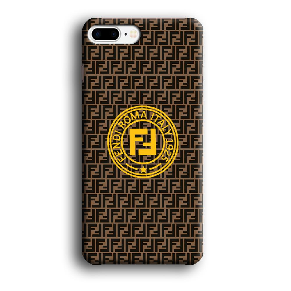 Fendi Yellow Emblem Ring iPhone 8 Plus 3D coque custodia fundas