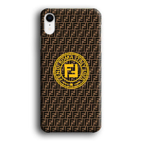 Fendi Yellow Emblem Ring iPhone XR 3D coque custodia fundas