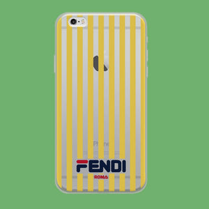 Fendi Yellow Line coque iPhone 6 | iPhone 6s Clear