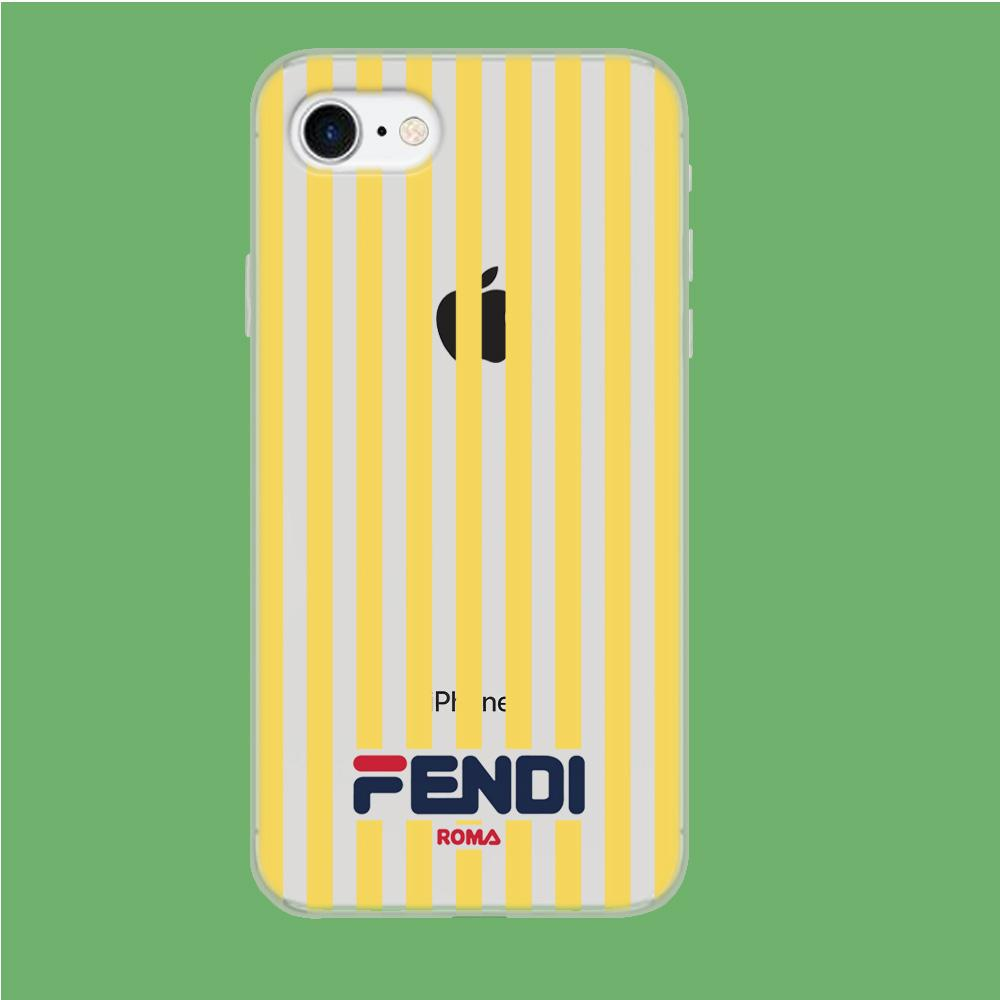 Fendi Yellow Line coque iPhone 7 Clear