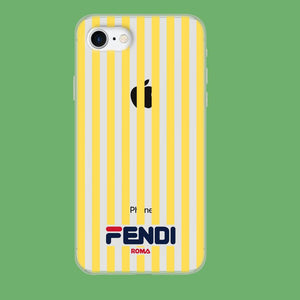 Fendi Yellow Line coque iPhone 8 Clear