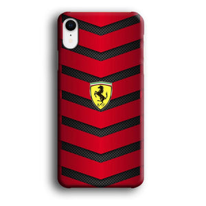 Ferrari Red Metallic iPhone XR 3D coque custodia fundas