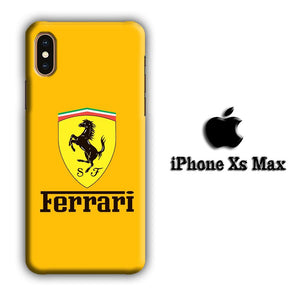 Ferrari Yellow Backdrop iPhone Xs Max 3D coque custodia fundas