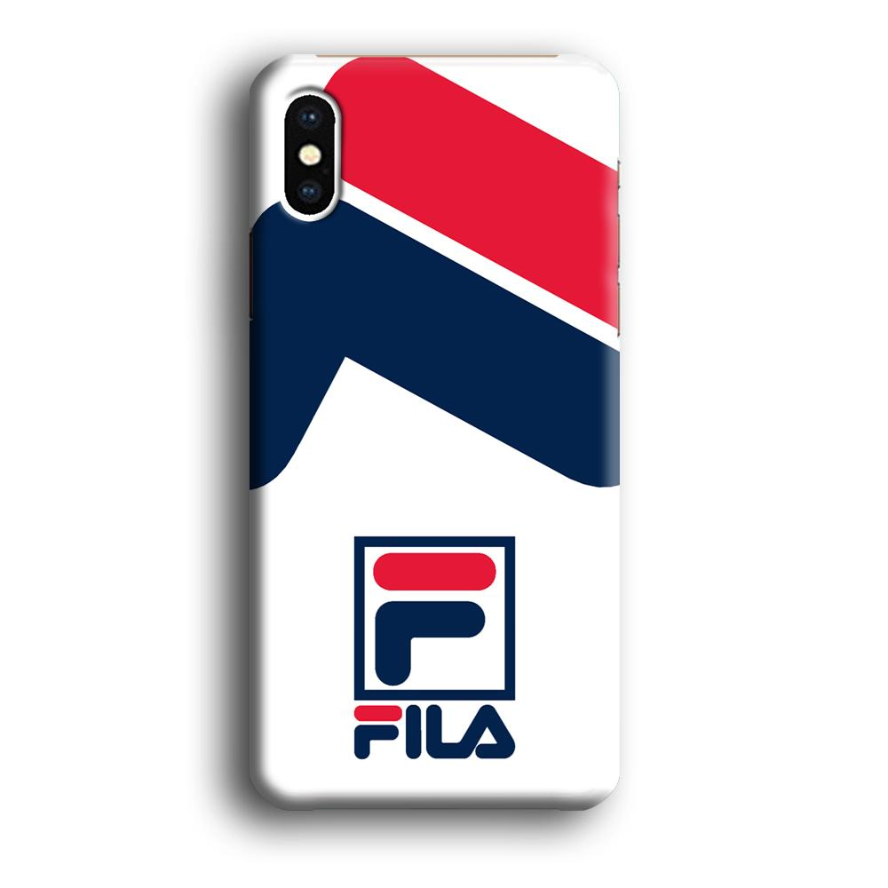 Fila Bold Stamp iPhone X 3D coque custodia fundas