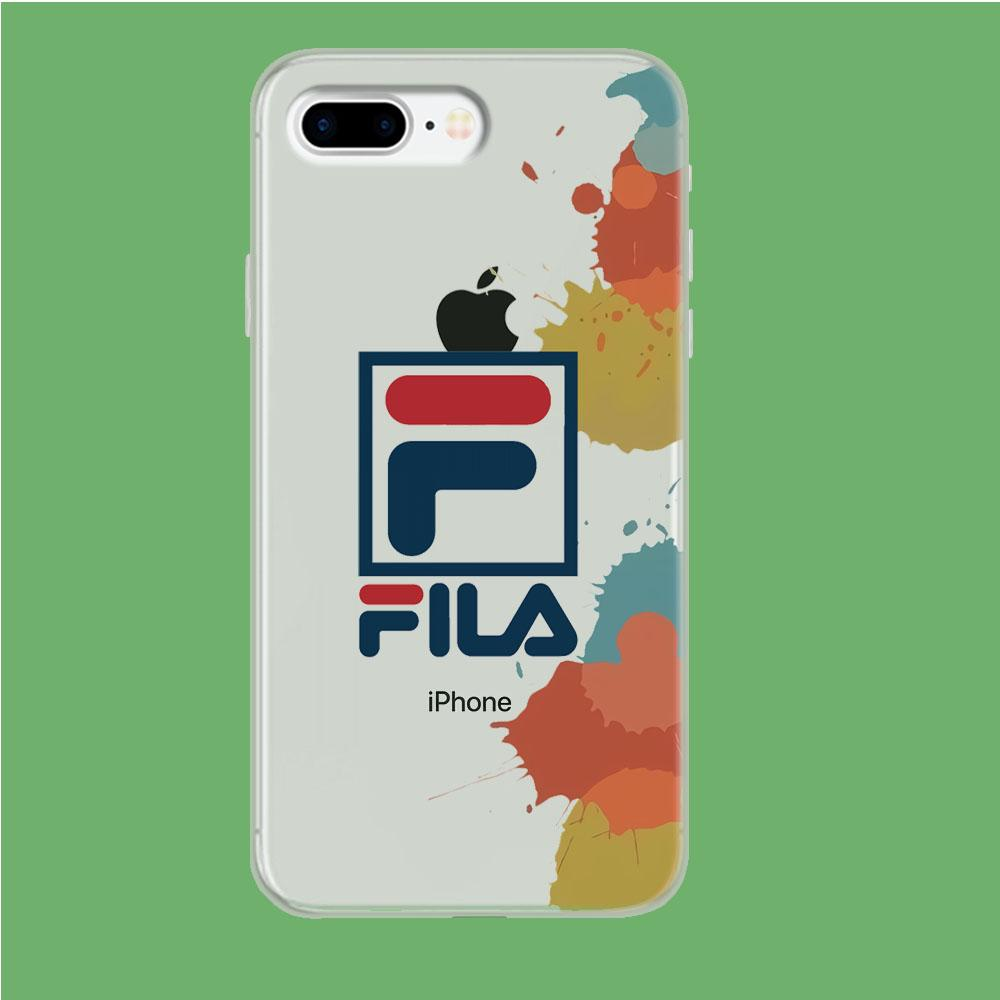 Fila Logo in Stain coque iPhone 7 Plus Clear