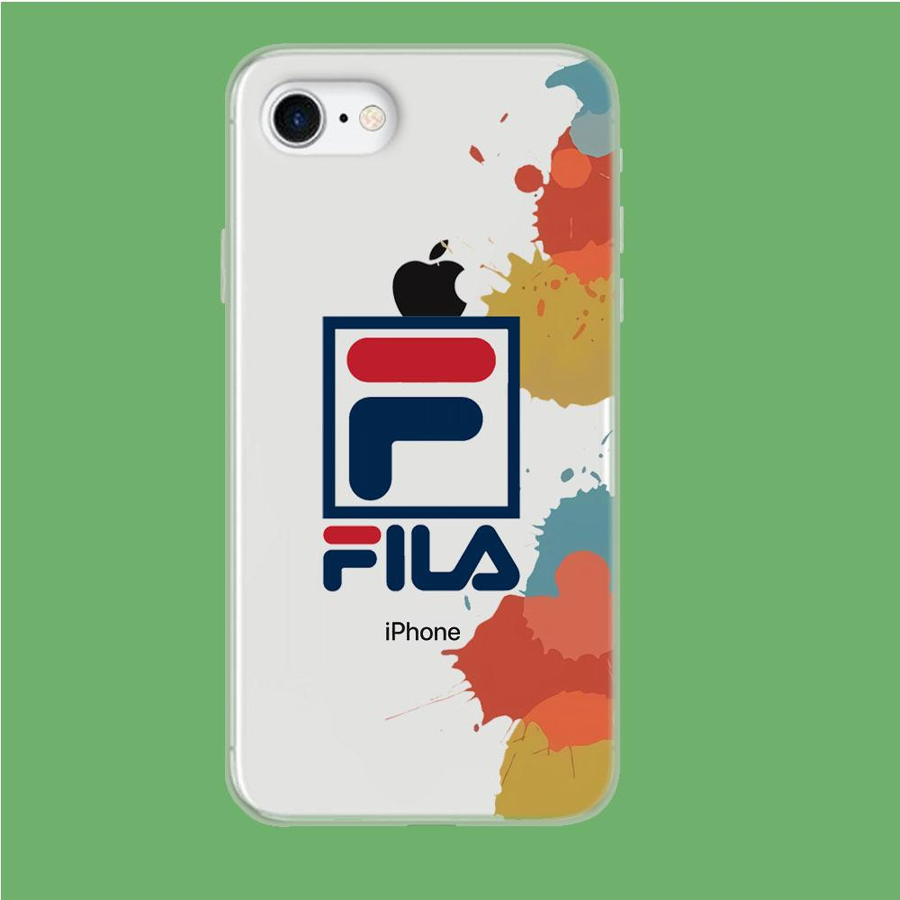 Fila Logo in Stain coque iPhone 8 Clear