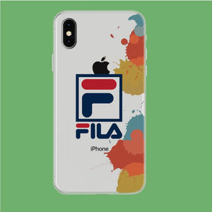 Fila Logo in Stain iPhone Xs Max Clear coque custodia fundas