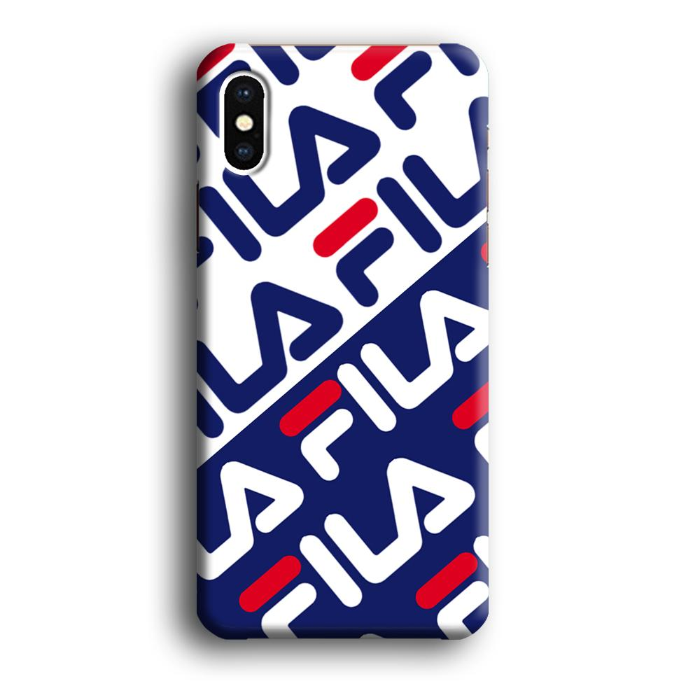 Fila Patern in Slope iPhone Xs 3D coque custodia fundas