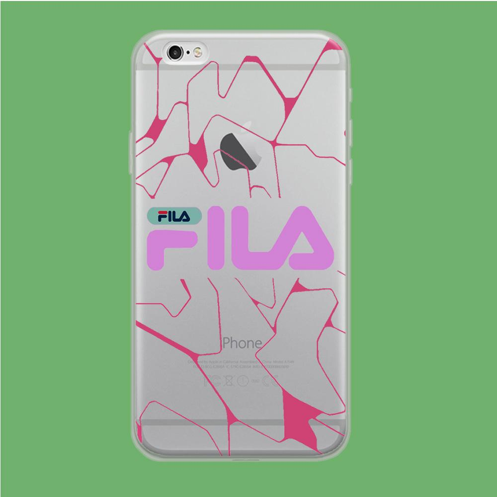 Fila Pink Expert Patern coque iPhone 6 | iPhone 6s Clear