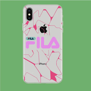 Fila Pink Expert iPhone X Clear coque custodia fundas