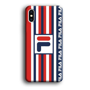 Fila Square and Line iPhone X 3D coque custodia fundas