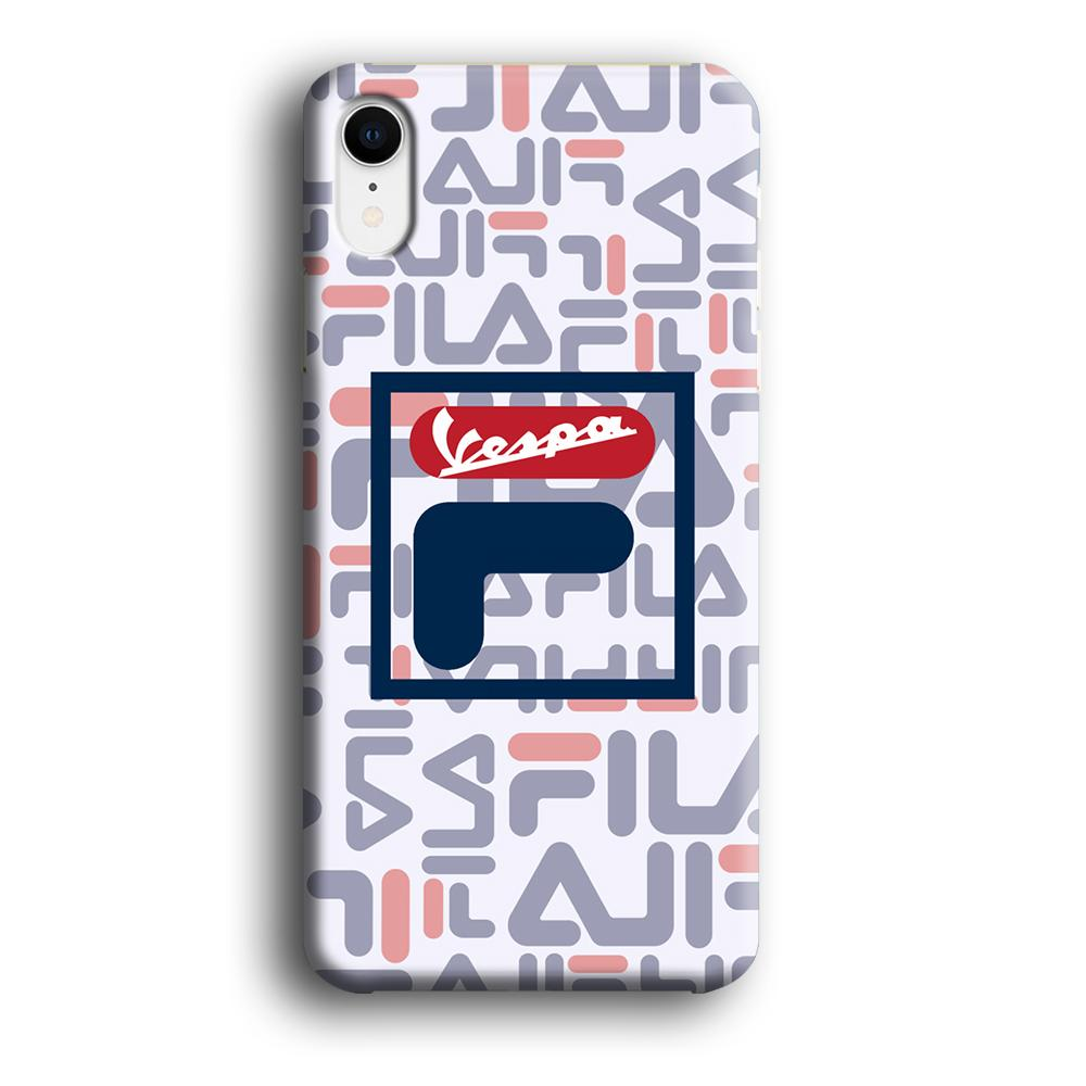 Fila x Vespa Box Emblem iPhone XR 3D coque custodia fundas