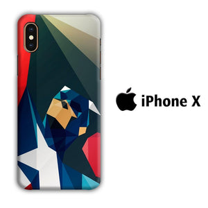 Film Capt America iPhone X 3D coque custodia fundas
