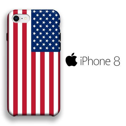 Flag America Original iPhone 8 3D coque custodia fundas