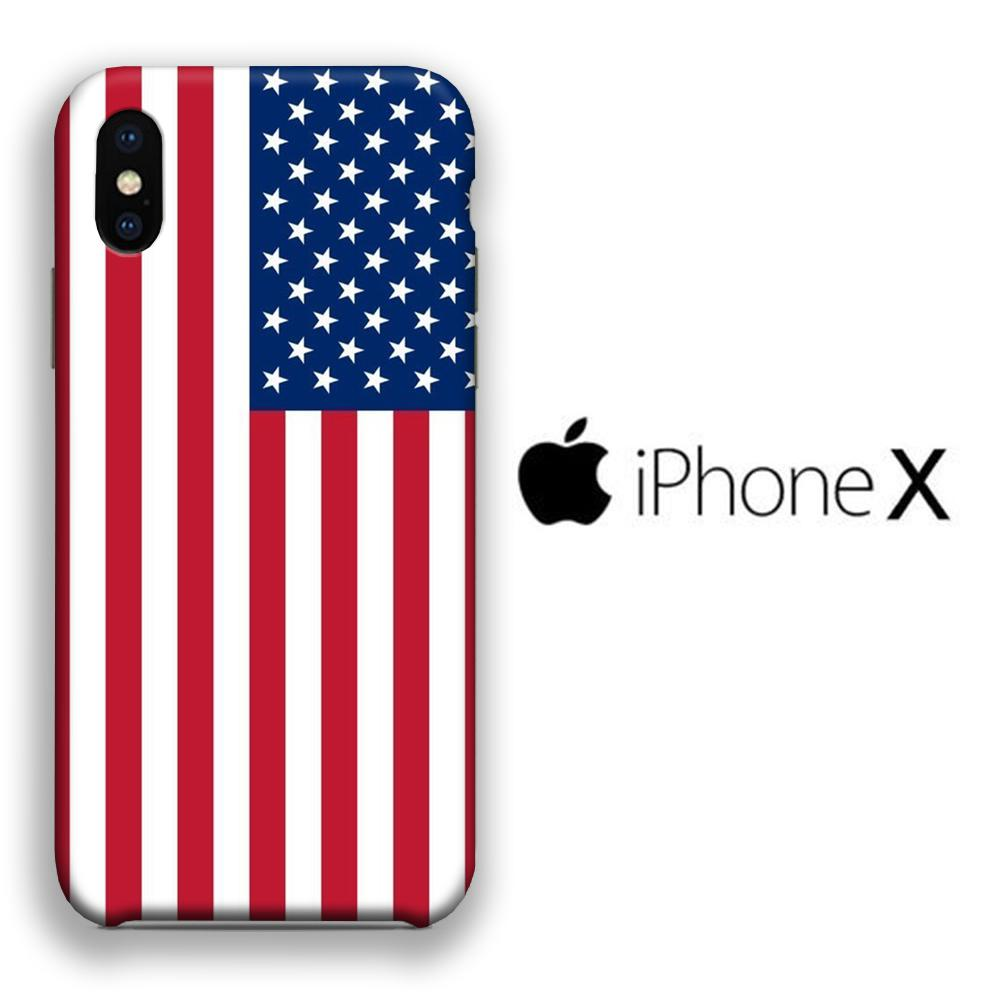 Flag America Original iPhone X 3D coque custodia fundas