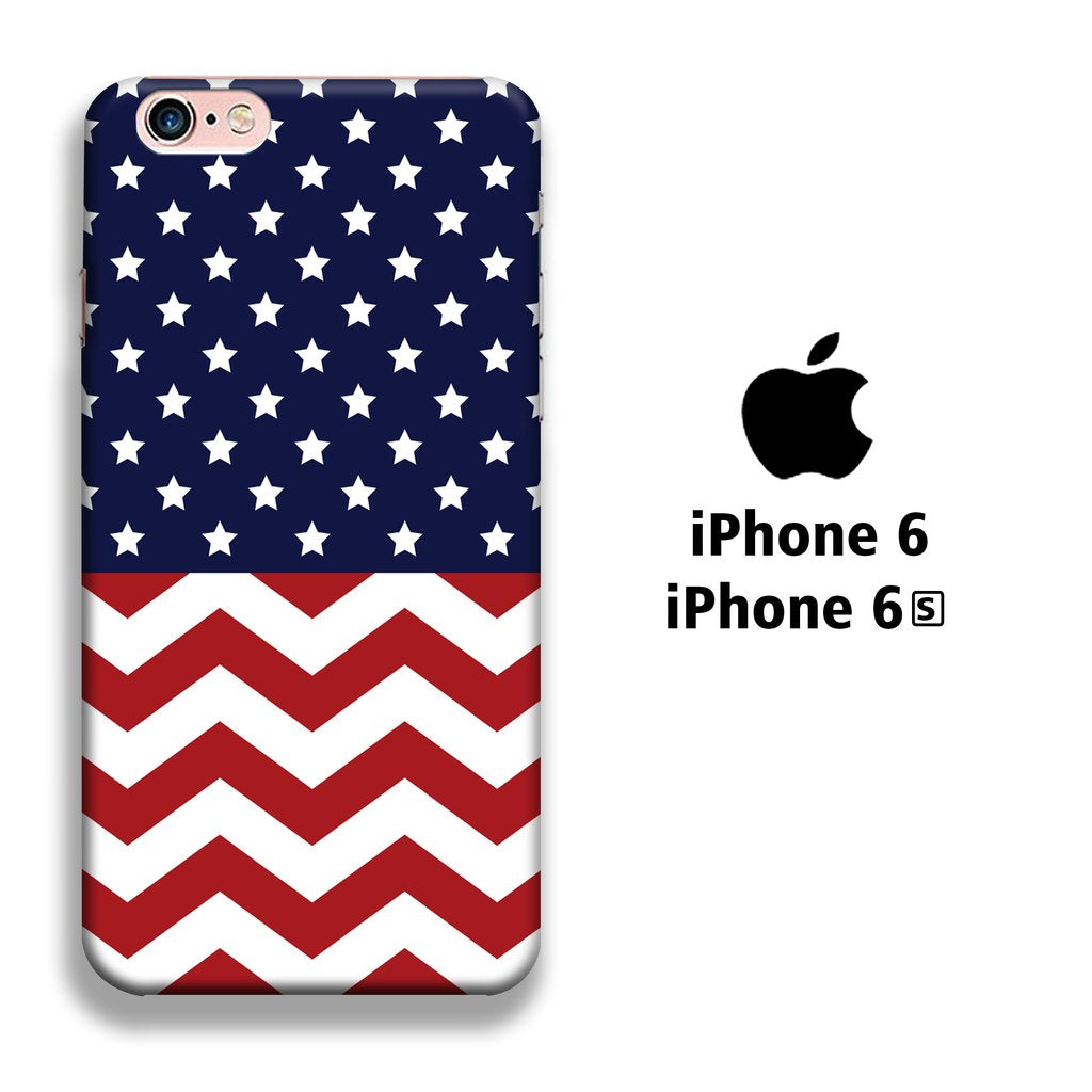 Flag America Patern 002 iPhone 6 | 6s 3D coque custodia fundas