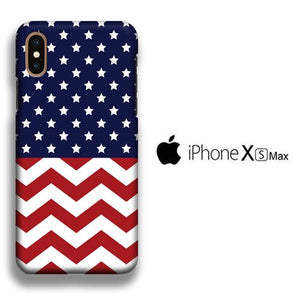 Flag America Patern 002 iPhone Xs Max 3D coque custodia fundas