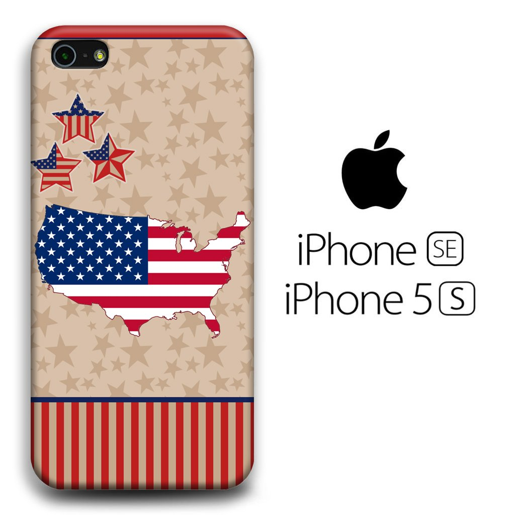 Flag America Patern 004 iPhone 5 | 5s 3D coque custodia fundas