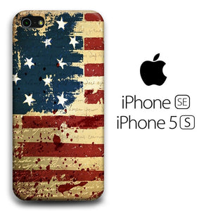 Flag America Patern 006 iPhone 5 | 5s 3D coque custodia fundas