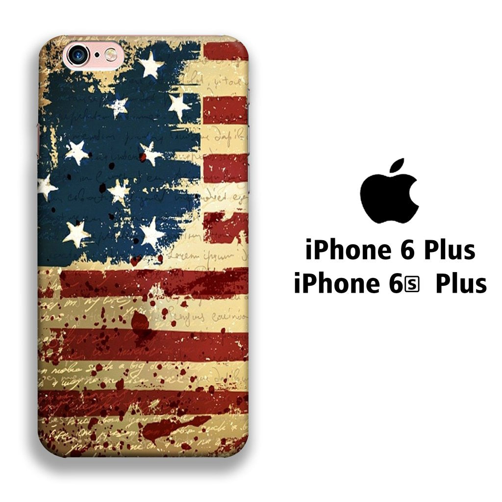 Flag America Patern 006 iPhone 6 Plus | 6s Plus 3D coque custodia fundas