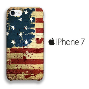 Flag America Patern 006 iPhone 7 3D coque custodia fundas