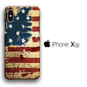 Flag America Patern 006 iPhone Xs 3D coque custodia fundas