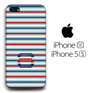 Flag America Patern Liberty iPhone 5 | 5s 3D coque custodia fundas