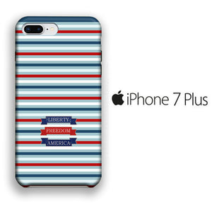 Flag America Patern Liberty iPhone 7 Plus 3D coque custodia fundas