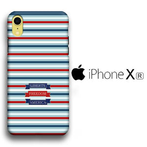 Flag America Patern Liberty iPhone XR 3D coque custodia fundas