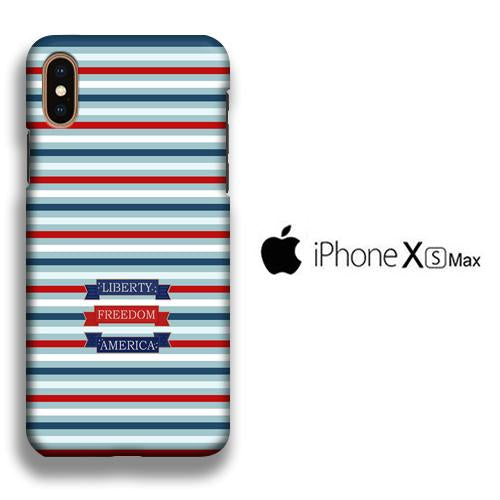 Flag America Patern Liberty iPhone Xs Max 3D coque custodia fundas