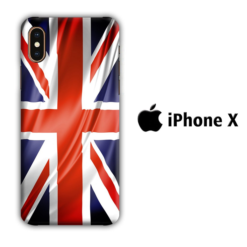 Flag of Great Britain 002 iPhone X 3D coque custodia fundas