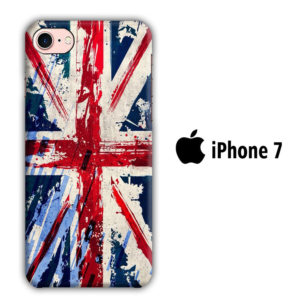 Flag of Great Britain iPhone 7 3D coque custodia fundas