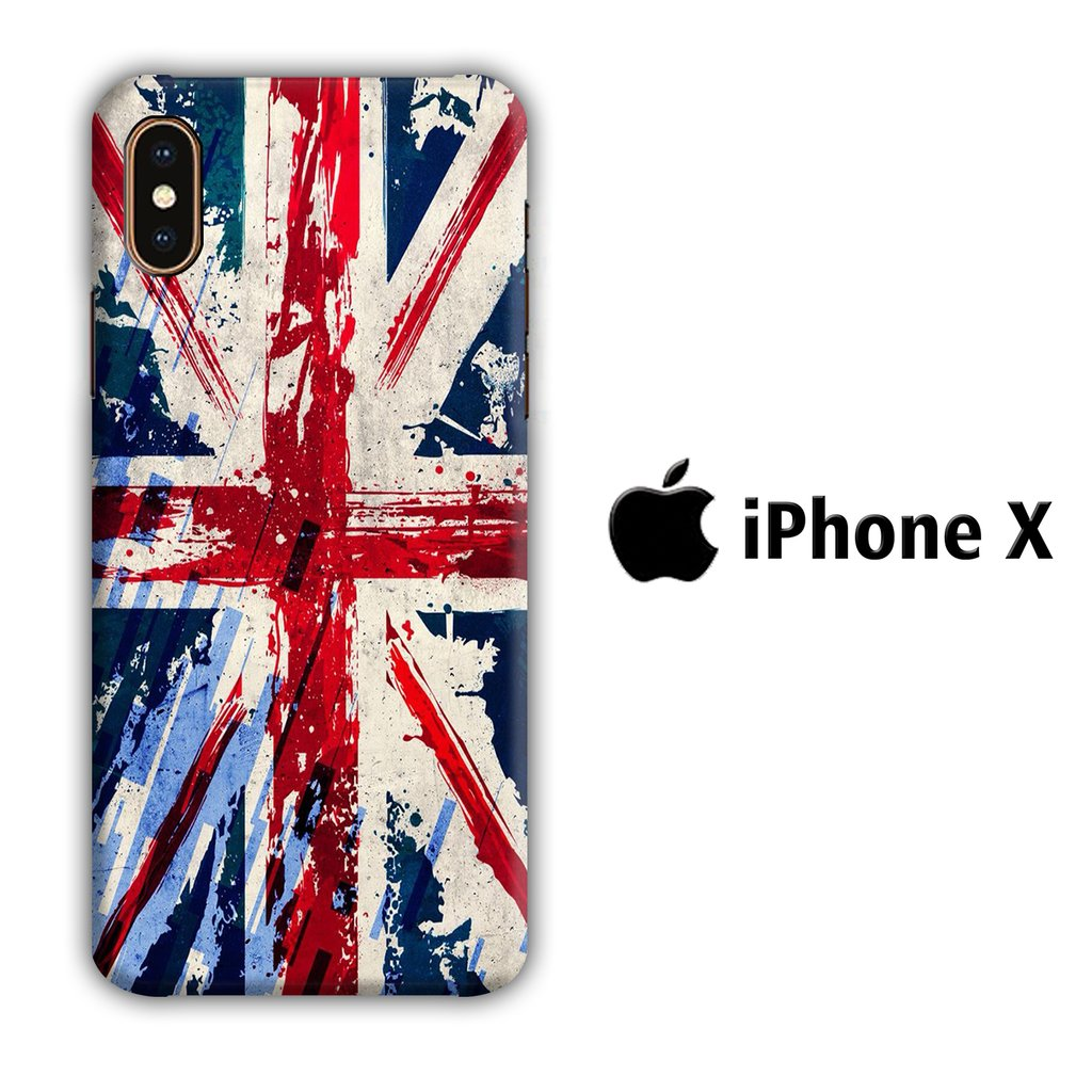 Flag of Great Britain iPhone X 3D coque custodia fundas