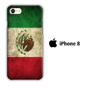 Flag of Mexico 002 iPhone 8 3D coque custodia fundas
