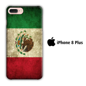 Flag of Mexico 002 iPhone 8 Plus 3D coque custodia fundas